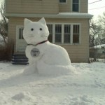 Mauws en Mimi - Snowman Kitty