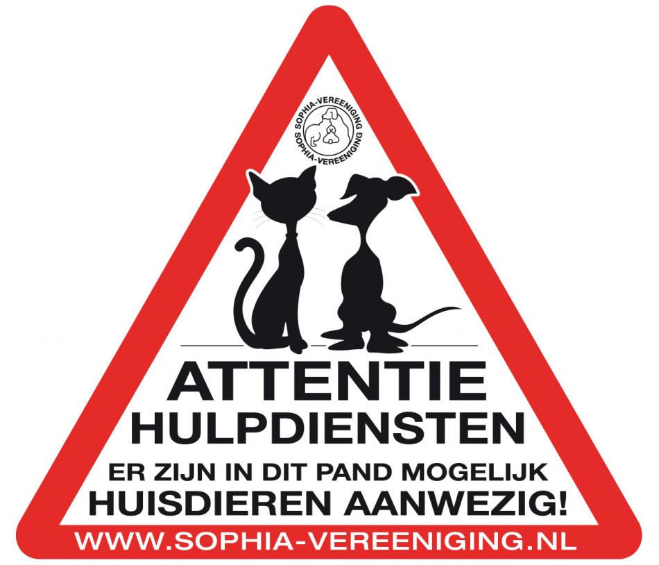 Noodsticker hulpdiensten katten