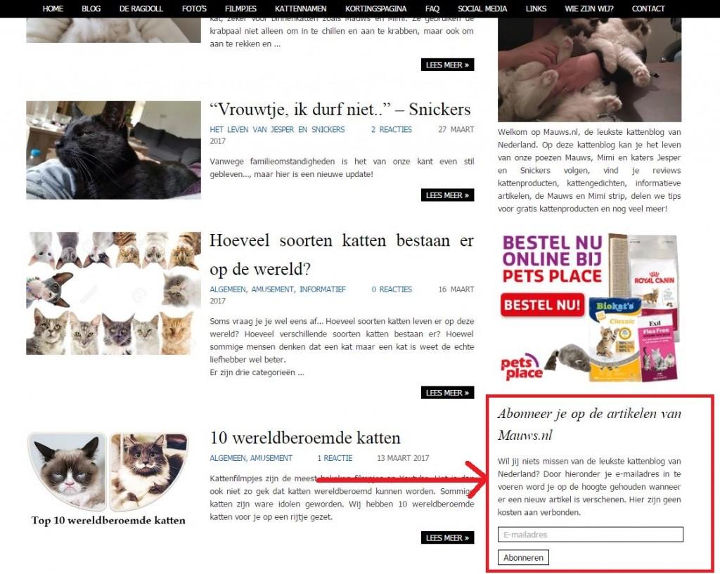 Abonneren op Mauws.nl